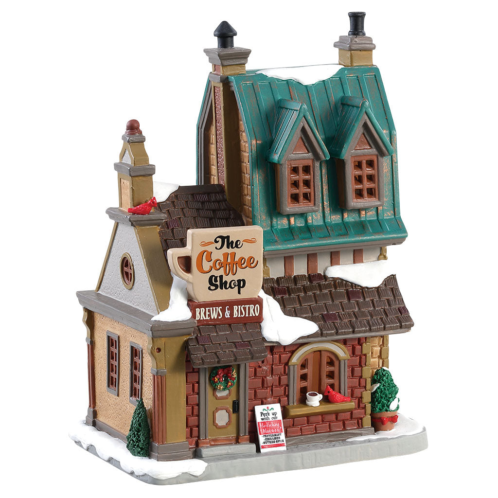 Lemax 85380 The Coffee Shop, Standard Lighted Building- Gift Spice