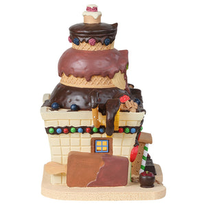 Lemax 85382 Delightful Dip Chocolate Shop, Standard Lighted Building- Gift Spice