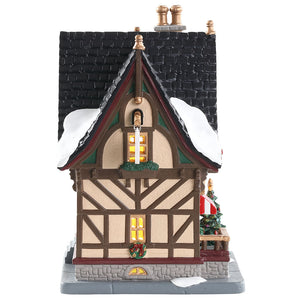 Lemax 85387 The Christmas Cubby, Standard Lighted Building- Gift Spice