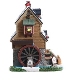 Lemax 85390 Cedar Falls Grist Mill, Standard Lighted Building- Gift Spice
