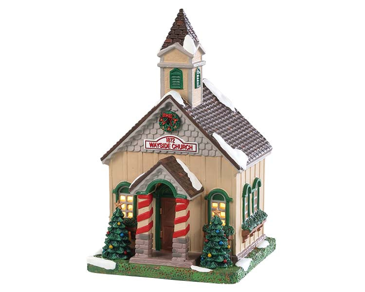 Lemax 85414 Wayside Church, Standard Lighted Building- Gift Spice