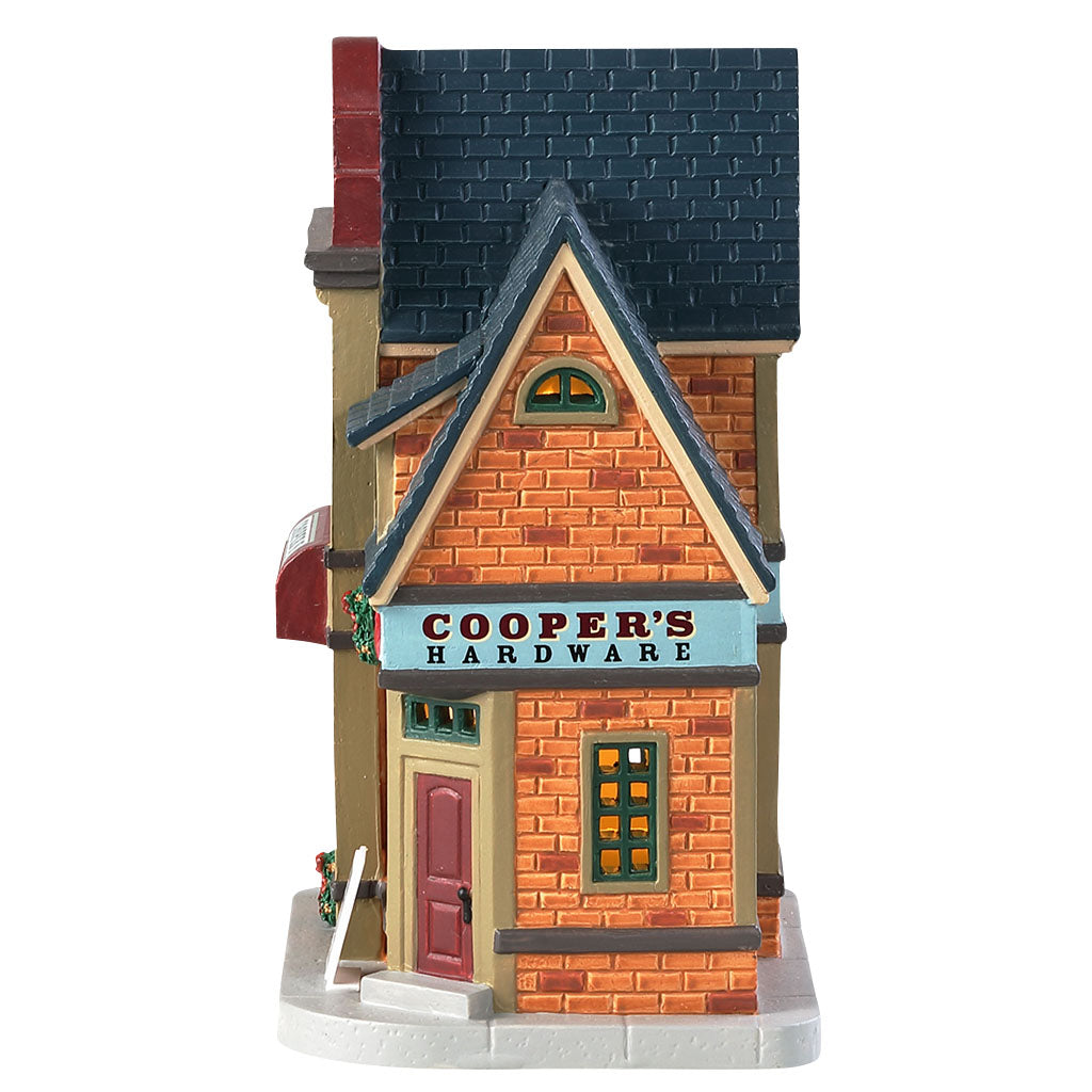 Lemax 85415 Cooper's Hardware, Standard Lighted Building- Gift Spice