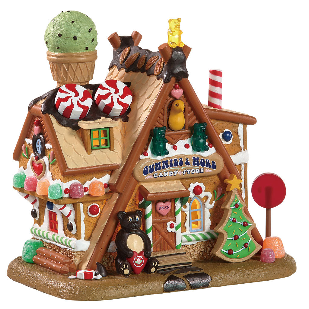 Lemax 85436 Gummies & More Candy Store, Standard Lighted Building- Gift Spice