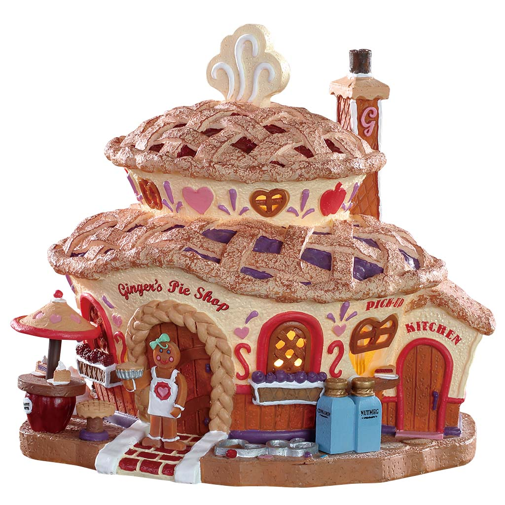 Lemax 85437 Ginger's Pie Shop, Standard Lighted Building- Gift Spice