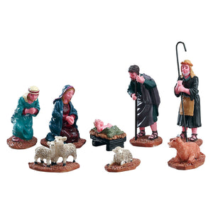 Lemax 92351 Nativity Figurines Set Of 8, Figurine- Gift Spice