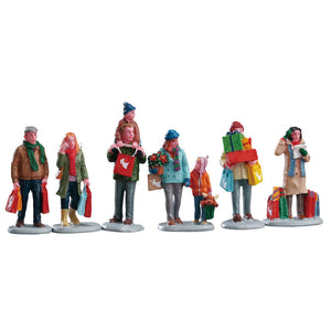 Lemax 92683 Holiday Shoppers, Figurine- Gift Spice