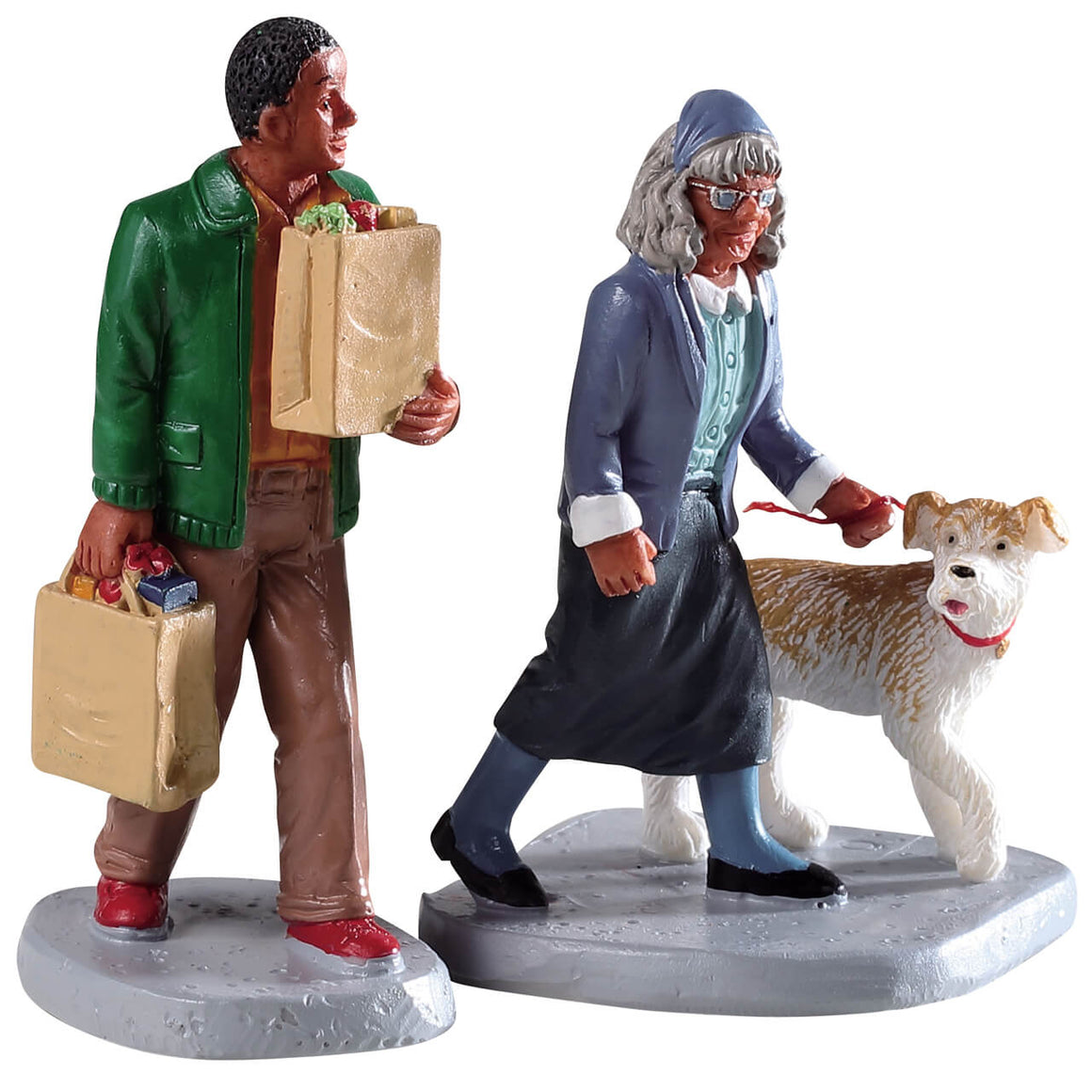 Lemax 92742 Happy To Help, Set of 2, Figurine- Gift Spice