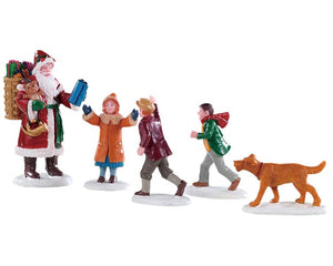 Lemax 92745 Papa Christmas! Set of 5, Figurine- Gift Spice