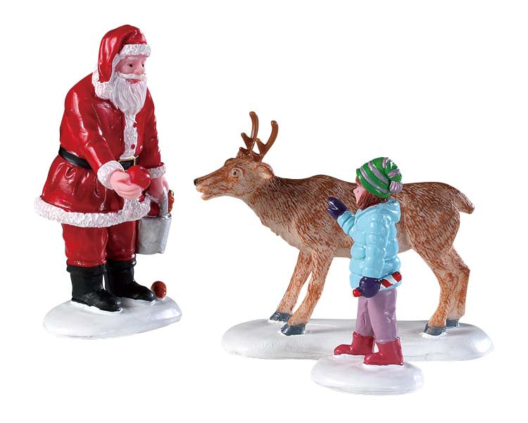 Lemax 92752 Reindeer Goodies, Set of 3, Figurine- Gift Spice