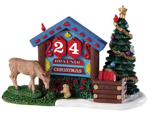 Lemax 93436 Woodland Countdown, Table Piece- Gift Spice