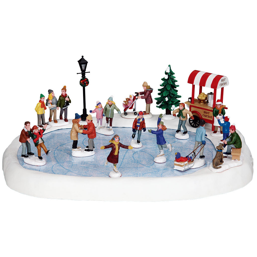 Lemax 94048 Village Skating Pond, Sights and Sound piece- Gift Spice