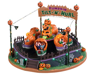 Lemax 94487 Pumpkin Tilt-N-Hurl, Sights and Sound piece- Gift Spice