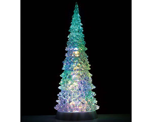 Lemax 94510 Crystal Lighted Tree, 4 Color Changeable & Color Transformation XL, Accessory- Gift Spice