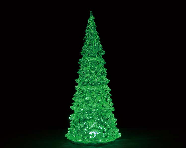 Lemax 94515 Crystal Lighted Tree, 3 Color Changeable Large, Accessory- Gift Spice