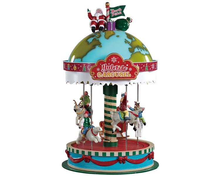 Lemax 94525 Yuletide Carousel, Sights and Sound piece- Gift Spice