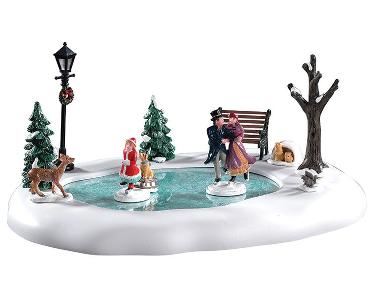 Lemax 94527 Victorian Skaters, Table Piece- Gift Spice