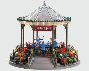 Lemax 94551 Holiday Garden Green Bandstand, Sights and Sound piece- Gift Spice