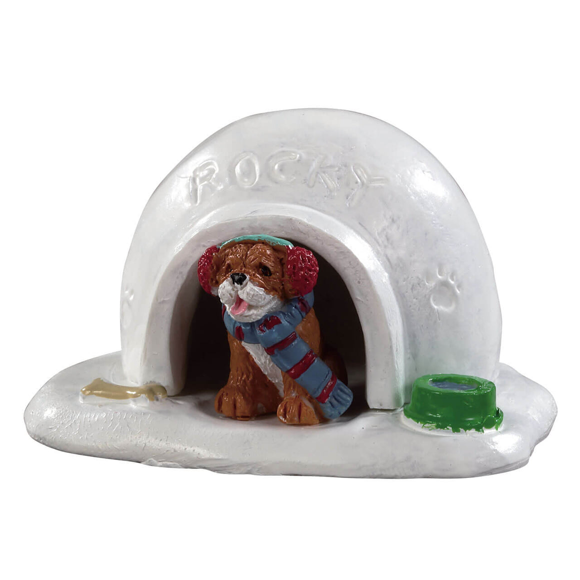 Lemax 94552 Igloo Doghouse, Accessory- Gift Spice