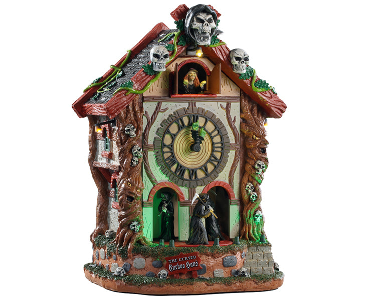 Lemax 95454 The Cursed Cuckoo Haus, Sights and Sound piece- Gift Spice