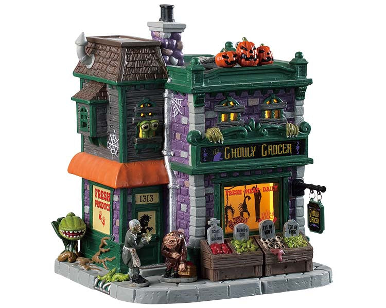 Lemax 95458 Ghouly Grocer, Standard Lighted Building- Gift Spice