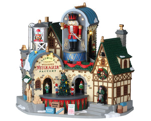 Lemax 95463 Ludwig's Wooden Nutcracker Factory, Sights and Sound piece- Gift Spice