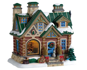 Lemax 95474 Pine Peak Retreat, Standard Lighted Building- Gift Spice
