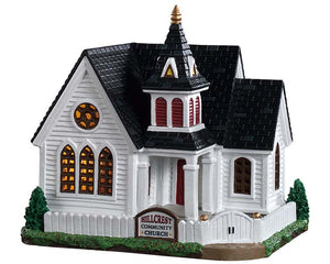 Lemax 95487 Hillcrest Community Church, Standard Lighted Building- Gift Spice
