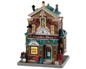 Lemax 95491 Danielle's Decor, Standard Lighted Building- Gift Spice