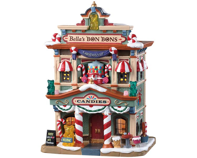 Lemax 95509 Bella's Bon Bons, Standard Lighted Building- Gift Spice