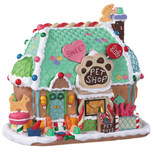 Lemax 95528 Sweet Little Pet Shop, Standard Lighted Building- Gift Spice