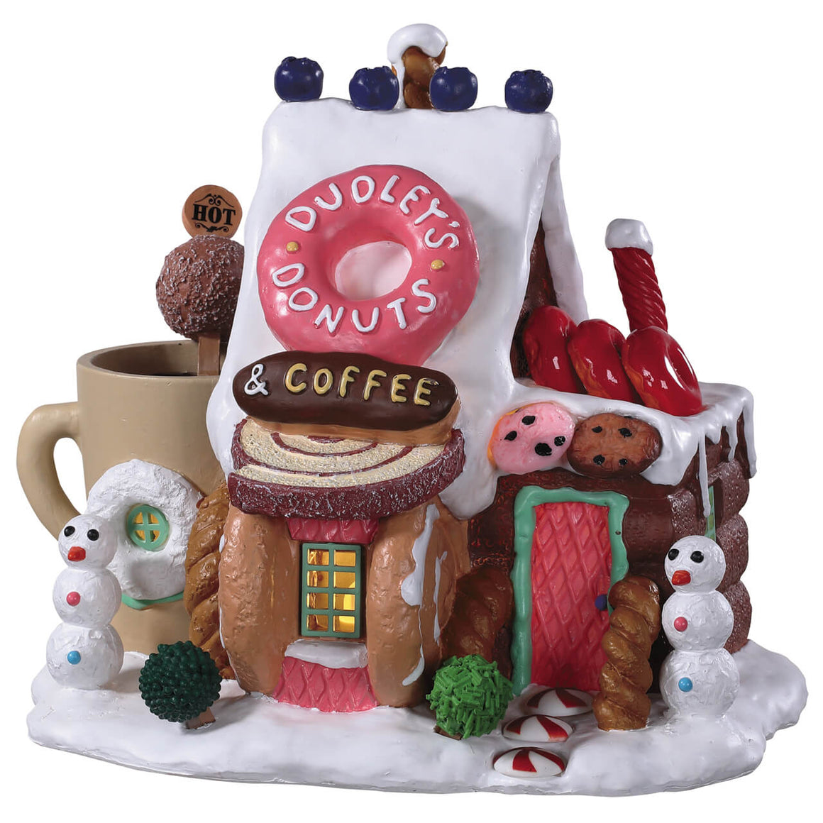 Lemax 95529 Dudley's Donut Shop, Standard Lighted Building- Gift Spice