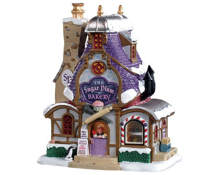 Lemax 95531 Sugar Plum Bakery, Standard Lighted Building- Gift Spice