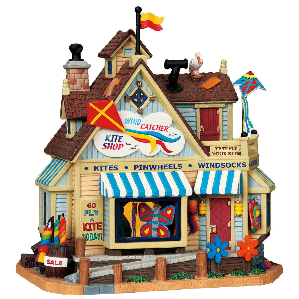 Lemax 95813 Wind Catcher Kite Shop, Standard Lighted Building- Gift Spice