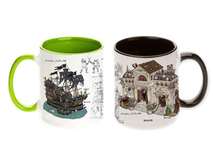 07201 Lemax Commemorative Mug Set of 2