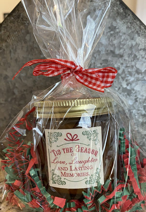 "06300 Mason Jar - ""Vintage Christmas"" Candle (4oz)"