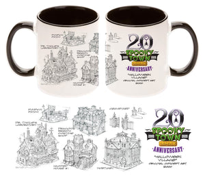 Lemax Spooky Town 20th Anniversary 11oz Coffee Mug