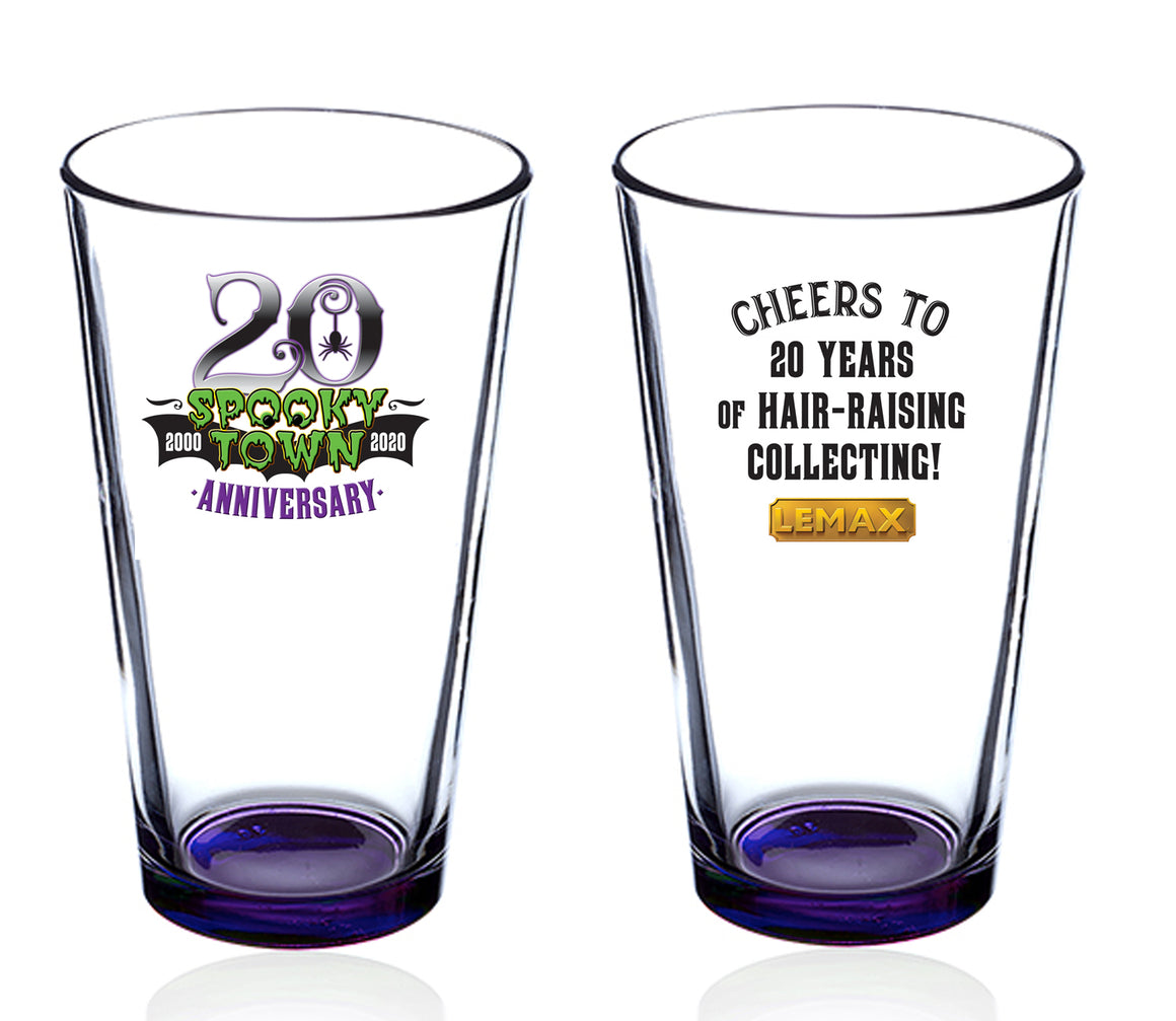 Lemax 06201 Spooky Town 20th Anniversary 16oz Pint Glass
