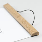 Oak Magnetic Print Hanger for A4 Portrait Prints