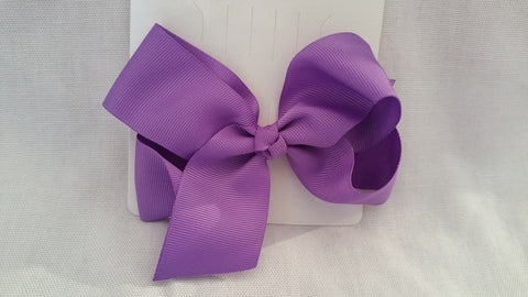 "Solid Color 6"" Grosgrain Hair Bow"