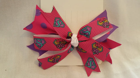 Super Girl Hair Bow