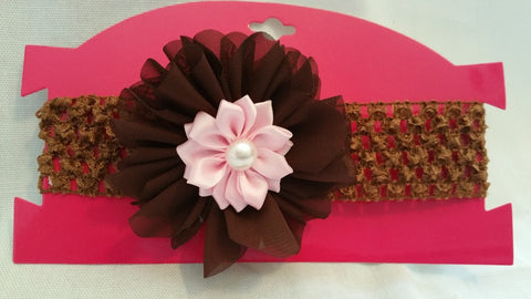 Brown & Pink Infants Headband