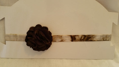 Brown tie-dyed Headband