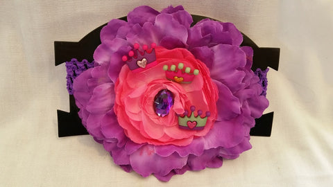 Purple and Pink Infants Princess Headband