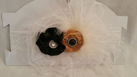 Black and Tan Headband