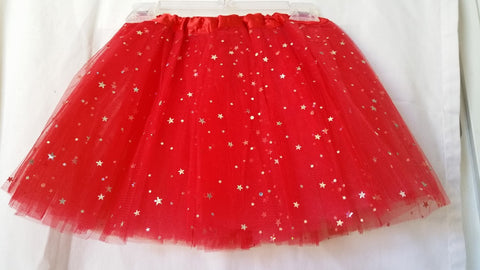 Red Sparkle Star Skirt