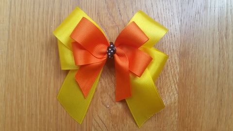 Sweet as Candy Corn Double Bow