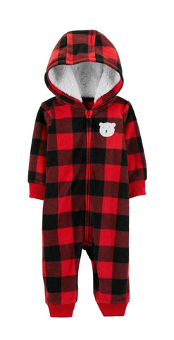 Red and Black Bear Coveralls