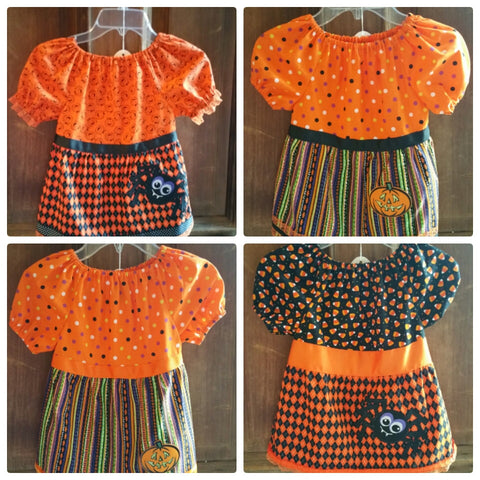 Halloween Peasant Shirt for Toddlers