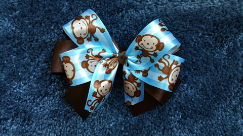 Blue Monkey Hairbow