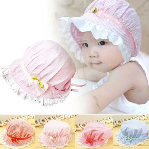 Striped Baby Bonnet